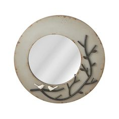 This contemporary Bird and Moon Wall Mirror has a fanciful nature. The design on this light wood piece is of a scene in nature, and the round mirror plays the part of the moon. A single bird sits atop ...  Find the Bird and Moon Wall Mirror, as seen in the Mirrors Collection at http://dotandbo.com/category/decor-and-pillows/mirrors?utm_source=pinterest&utm_medium=organic&db_sku=102023