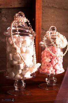 Shabby chic baby shower, girls, jars, pearls, vintage flowers