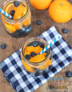 31 Detox Water Recipes for Drinks To Cleanse Skin and Body.  Easy to Make Waters and Tea Promote Health, Diet and Support Weightloss |  Blueberry and Orange Detox Water - Drink Recipe  http://diyjoy.com/diy-detox-water-recipes