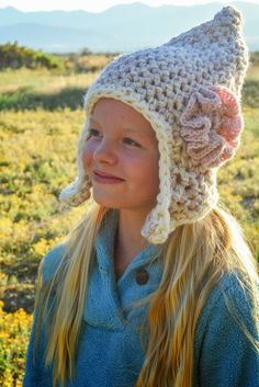 Aesthetic Nest: Crochet: Triple-Strand Earflap Hats for the Family (New Pattern)