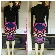 FINAL MARKDOWN NO OFFERS Treasure Time Skirt 84% Acrylic 13% Polyester 3% Spandex Blend Knee Skirt Skirts