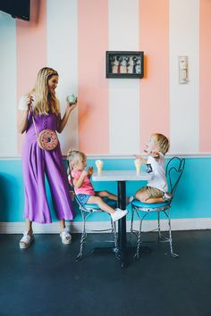 Purple Jumpsuit - Barefoot Blonde by Amber Fillerup Clark Cute Family, Family Goals, Amber Fillerup Clark, Dad Baby, Baby Girls, Barefoot Blonde, Love You Baby, Mother And Child, Sons
