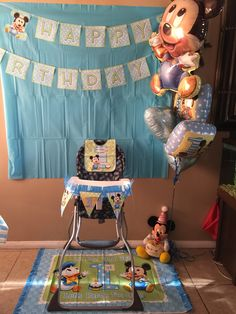Foil Baby Mickey Mouse Balloon 32in Party City Wyatt