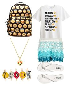 """Emoji"" by miaaking on Polyvore featuring New Look, Kate Spade and Monsoon"