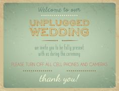 If you're considering having an unplugged wedding but aren't sure how to say it in a way that won't piss off your guests, we're here to help with copy 'n' paste …