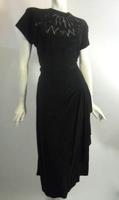 Black  Dress, 1940s