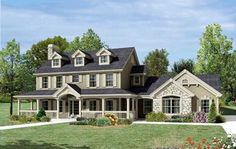 Country Style House Plans - 2368 Square Foot Home , 2 Story, 4 Bedroom and 3 Bath, 2 Garage Stalls by Monster House Plans - Plan 77-309