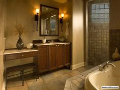 Sophisticated Tone For Normal And Calming Bathroom Decor Colors With Gorgeous Scheme - http://www.dedecoration.com/interior-home-design/sophisticated-tone-for-normal-and-calming-bathroom-decor-colors-with-gorgeous-scheme.html
