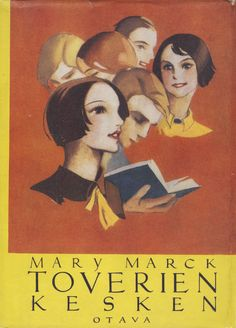 Title: Toverien kesken   Author: Mary Marck   Designer: Martta Wendelin Ebook Pdf, Mary, Author, Cover, Movie Posters, Orange, Link, Design, Film Poster