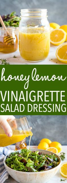 Cajun Delicacies Is A Lot More Than Just Yet Another Food This Easy And Healthy Honey Lemon Vinaigrette Salad Dressing Is Perfect For All Your Favorite Salads, And It's Simple To Make With Only A Few Basic Ingredients Recipe From Thebusybaker. Vinaigrette Salad Dressing, Salad Dressing Recipes, Green Salad Dressing, Honey Dressing, Healthy Salad Recipes, Vegetarian Recipes, Cooking Recipes, Healthy Tips, Pasta Recipes