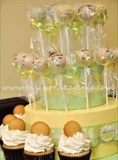 Babies, Babies, Babies! Cake pops and cupcakes almost too cute to eat...almost