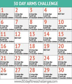30 day arms challenge!  http://30dayfitnesschallenges.com/classes/30-day-arms-challenge/
