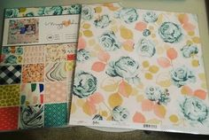 This was waiting on my porch when I got home. Hope I get some scrappy time this week. #onlineorder#scrapbookdotcom#maggieholmes#gather#paperpad#cratepaper#florals