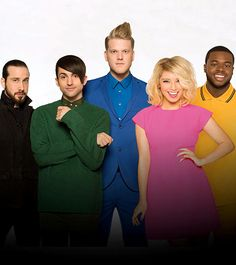 Pentatonix is a Grammy Award-winning a capella group comprised of members Scott Hoying, Mitch Grassi, Kirstin Maldonado, Avi Kaplan and Kevin Olusola. Description from m.nbc.com. I searched for this on bing.com/images