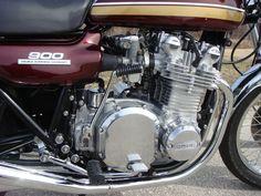 Restored Kawasaki - 1975 Photographs at Classic Bikes Restored - Motorcycle Engine, Motorcycle Parts, Crotch Rockets, Kawasaki Bikes, Classic Bikes, Sport Bikes, Custom Bikes, Cars And Motorcycles, Motorbikes