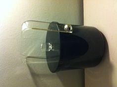 VINTAGE Hollywood Regency art deco lucite & black ice bucket