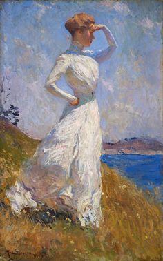 Le Prince Lointain: Frank W. Benson (1862-1951), Sunlight - 1909