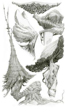 ArtStation - Tree sketches, Nicolas Weis