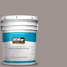 BEHR Premium Plus 5-gal. #N140-4 Tavern Taupe Satin Enamel Interior Paint