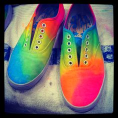 Tye dye shoes, gonna try this