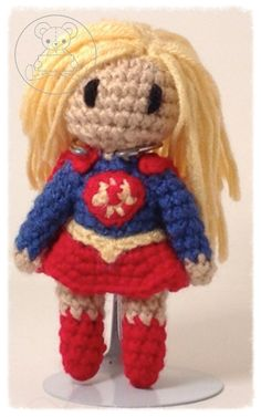 Supergirl Dc Characters, Supergirl, Artisan, Teddy Bear, Toys, Gallery, Crochet, Animals, Amigurumi