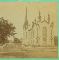 Photo of a Grand Rapids church from a stereo view - c. 1880