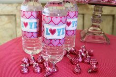 Mod sweethearts water bottle labels