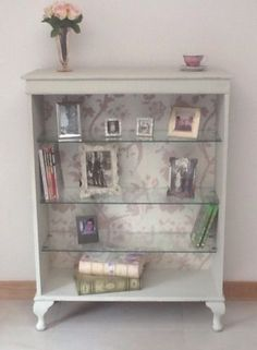 SHABBY-CHIC-VINTAGE-DISPLAY-CABINET-WITH-GLASS-SHELVES More More