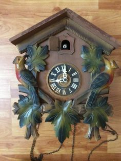 German Black Forest Regula Schmeckenbecher Cuckoo Clock Repair Or Parts