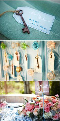 #amorology: key escort cards #wedding