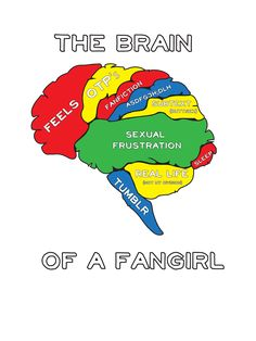 The Brain of a Fangirl... except the sexual frustration needs to be bigger! :) repinning for the sherlock reference