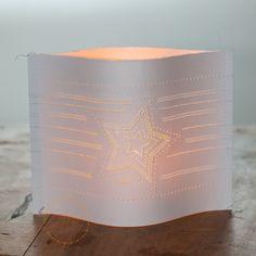 Kerzen & Beleuchtung - Windlicht-Lichthülle-Stern - ein Designerstück von Fitzeleien bei DaWanda