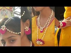 How to make real flower jewelry for mehndi and other fucntions new 2017 How to make real flower jewelry for mehndi and other fucntions new Please watch: how to make artificial jewellery step by Flower Jewellery For Mehndi, Flower Jewelry, Diy Jewellery, Jewellery Designs, Candy Jewelry, Bridal Jewelry, Disneyland, Harry Potter Jewelry, Flower Ornaments