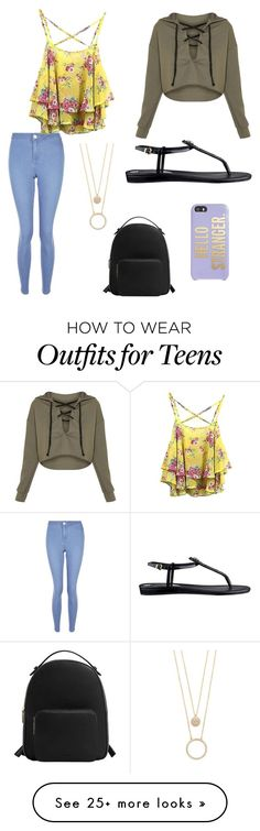 """NYC"" by mallorymorris-mm on Polyvore featuring MANGO, Kate Spade, New Look, WithChic and GUESS"