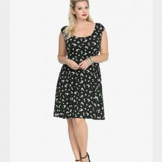 *Reduced Rockabilly Nautical Skater Dress Size 0 New with the tag..Brand new with the tags.. Nautical themed pin up style dress torrid Dresses