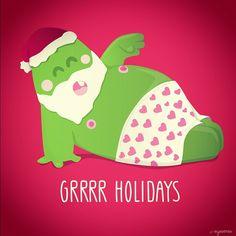 have a grrrrr holydays everyone :) from @eyesores.