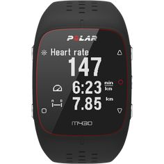 Polar M430 GPS running watch (black)