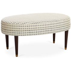 Perris Oval Cocktail Ottoman Window Dot Ottomans ($415) ❤ liked on Polyvore featuring home, furniture, ottomans, cushioned ottoman, oval ottoman, polka dot furniture, padded ottoman and black furniture