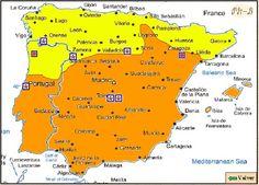 España prerromanica en 1025, durante el Califato de Cordoba. Map Of Spain, Iberian Peninsula, Spanish Culture, Medieval Castle, Romanesque, Historical Maps, Roman Empire, World History, Ancient History