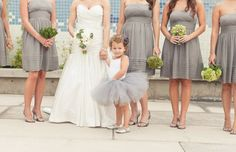 flower girl tutu - so cute...cheap and cute alternative....little people outfits are expensive...love how it matches. Lots of Pinterest pins on how to make one
