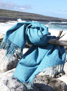 Sea Holly Wool/Cotton Throw