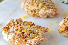 Lemon Herb Crusted Chicken Thighs | Serve with Minute White Rice for a quick, easy and succulent chicken dish.