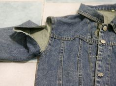 DIY TUTORIAL: OLD DENIM JACKET INTO VEST - Various Adulations About Life, Screencapped