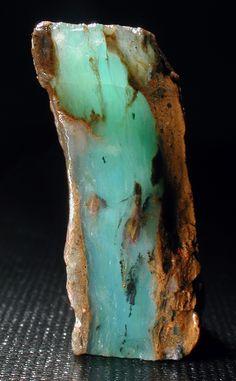 Opal colored blue by Chrysocolla / Acari Mine, Caraveli Province, Peru