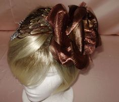 Lovely  New brown  Fascinator on a  satin  Headband  #HandCrafted  This love fascinator is available on Ebay with many others. OSCAR AND IVES CREATIONS  has brought to you many lovely new fascinators to enhance your fall and winter wardrobe  .