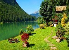 Wiosna, Rzeka, Las, Góry, Drzewa, Krzewy