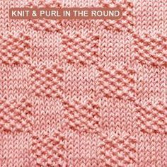 Over 100 knitting stitch patterns that can be made using only knit and purl stit. Over 100 knitting stitch patterns that can be made using only knit and purl stitches. Skill levels range from easy to in. Loom Knitting Stitches, Dishcloth Knitting Patterns, Knit Dishcloth, Easy Knitting, Moss Stitch, Seed Stitch, Knitting Squares, Knit In The Round, How To Purl Knit
