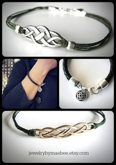 Celtic bracelets from JewelryByMaeBee on #etsy. !www.jewelrybymaebee.etsy.com