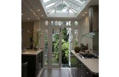 Conservatory Kitchen back ext to house Conservatory Kitchen, Conservatory Design, Roof Lantern, Interior Decorating, Interior Design, House Extensions, Beautiful Kitchens, My Dream Home, Interior Inspiration