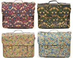 Doc martens collaborated with Liberty London. What's up Doc? I think you should stick to shoes. It looks like someone hit Granny so hard with these bags the flowers on her 50's muumuu imprinted onto the leather